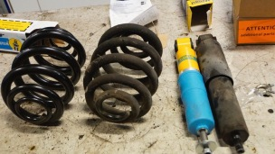 New springs and shock absorbers