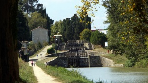Another set of 3 locks on the way to Carcasonne