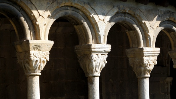 capitals in the cloister