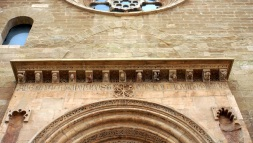 Decoration above a side door
