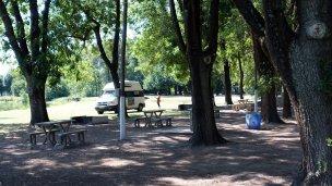 Campsite on the river in San Antonio